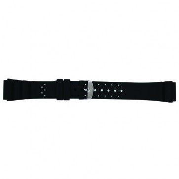 Klockarmband SL100 Silikon Svart 20mm