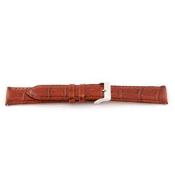 Klockarmband i äkta läder cognac 12mm EX-G62