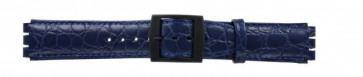 Rem för swatch krokodilmönstrat blått 17mm PVK-SC10.05