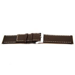 Klockarmband i äkta läder brunt 32mm EX-J43