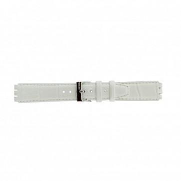 Rem för Swatch Äkta Läder vitt 17mm 21414
