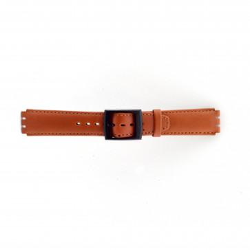 Klockarmband passande Swatch brunt 17mm PVK-SC11.03