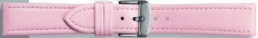 Klockarmband i äkta läder rosa 22mm PVK-283