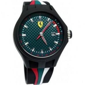 Ferrari klockarmband SF101.5 / 0830070 / SF689300050 Gummi Svart 22mm