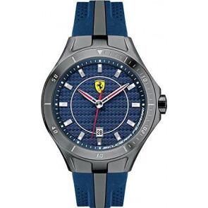 Ferrari klockarmband SF103.7 / 0830081 / SF689300057 / Scuderia Gummi Blå 22mm