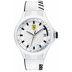 Ferrari klockarmband SF101.6 / 0830124 / SF689300071 / Scuderia Silikon Vit 22mm