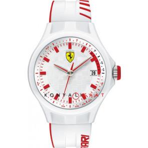 Ferrari klockarmband SF101.6 / 0830127 / SF689300079 / Scuderia Gummi Vit 22mm