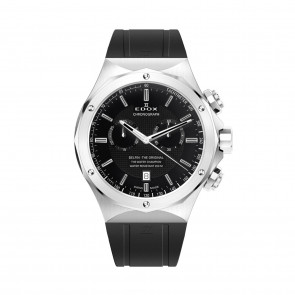 Edox klockarmband 10107-RUB Gummi Svart