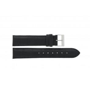 Edox klockarmband 27028-2 (Staal) Läder Svart 17mm + default sömmar