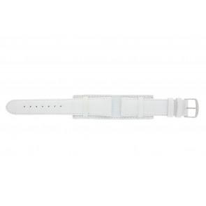 Klockarmband 61325.11.20 Läder Vit 20mm + sömmar vitt