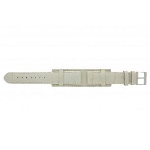 Klockarmband 61325.12.20 Läder Beige 20mm + sömmar beige