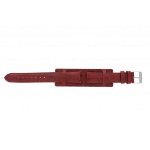 Klockarmband 61325.45.16 Läder Röd 16mm + sömmar rött