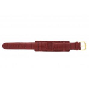 Klockarmband 61325.45.20 Läder Röd 20mm + sömmar rött