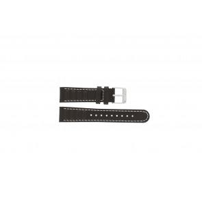Olympic klockarmband 89JAL004 Läder Brun 18mm + sömmar vitt