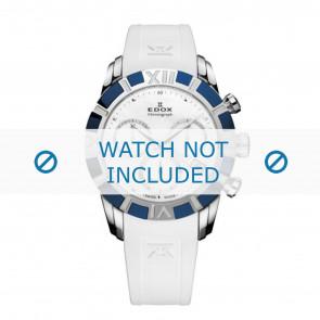 Edox klockarmband 10405-357B-NAIN Silikon Vit 18mm