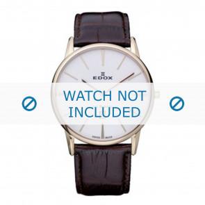 Edox klockarmband 26023-37R-BR Läder Brun 22mm + default sömmar