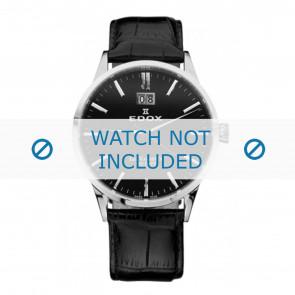 Edox klockarmband 63001-3-NIN Läder Svart 21mm + default sömmar
