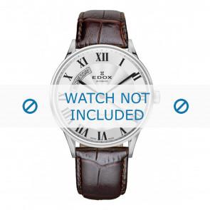 Edox klockarmband 83010-3B-AR Läder Mörk brun + default sömmar