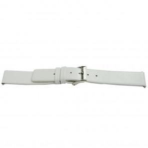 Klockarmband Läder vitt 28mm EX-K510