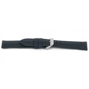 Klockarmband H081 XL Läder Grå 22mm + sömmar grå