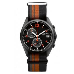 Klockarmband Hamilton H76582933 Textil Polykromi 22mm