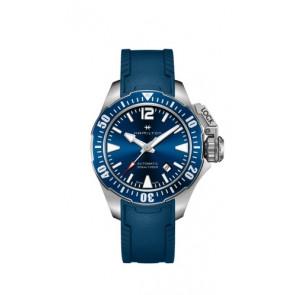 Klockarmband Hamilton H77705345 Gummi Blå 20mm