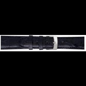 Morellato klockarmband Amadeus XL G.Croc Gl K0518052019CR22 / PMK019AMADEU22 Krokodilskinn Svart 22mm + default sömmar