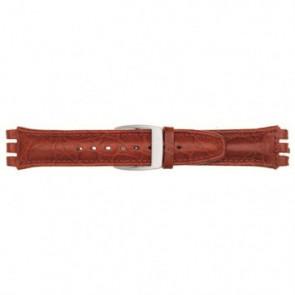 Klockarmband passande Swatch rött 19mm 07M