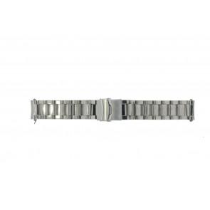 Klockarmband QQ22RHSHI Metall Ilverfärgad 22mm