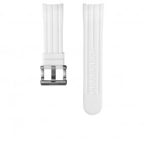 TW Steel klockarmband TW133 Gummi Vitt 24mm