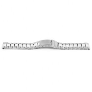 Klockarmband YI09 Metall Ilverfärgad 24mm