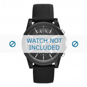 Armani klockarmband AX1326 Silikon Svart
