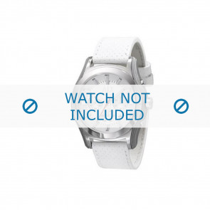 Armani klockarmband AX-2071 Läder Vitt 22mm