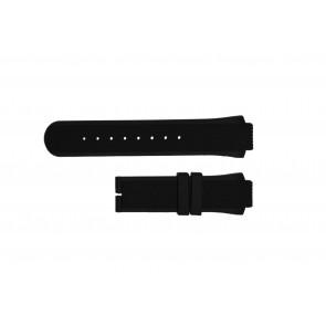 Breil klockarmband TW0450 / TW0455 Gummi Svart 16mm