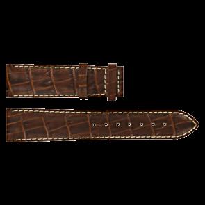 Certina klockarmband C610007729 XL Läder Brun 20mm + sömmar vitt