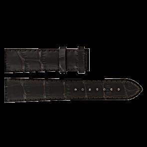 Certina klockarmband C610016931 Läder Mörk brun 20mm + sömmar brun