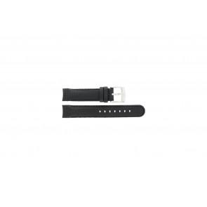 Camel klockarmband 4040-4059 Kol Svart 18mm + sömmar svart