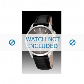 Candino klockarmband C4517-2 Läder Svart + sömmar svart