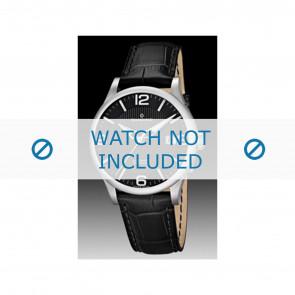 Candino klockarmband C4494 Läder Svart + sömmar svart