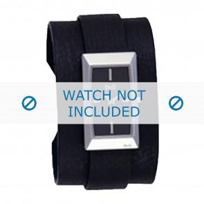 Dolce & Gabbana klockarmband 3719040031 Läder Svart + sömmar svart