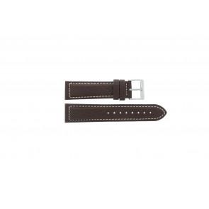 Davis klockarmband BB1021 / BB1023 Läder Mörk brun 22mm