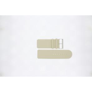 Jacques Lemans klockarmband DC218 / BE Läder Beige 26mm