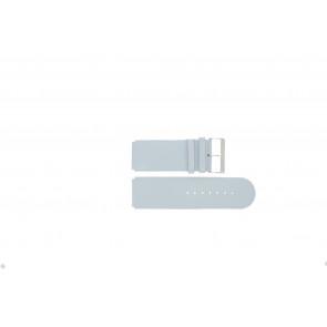 Jacques Lemans klockarmband DC218 / LBL Läder Ljusblå 26mm