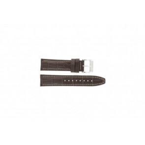 Festina klockarmband F16081/8 Läder Brun 22mm + sömmar vitt
