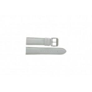 Festina klockarmband F16101/B Läder Vitt 22mm