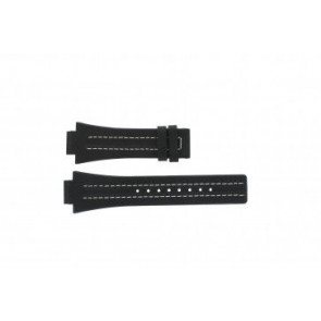 Festina klockarmband F16185 / 1 Läder Svart 16mm + sömmar vitt