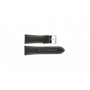 Festina klockarmband F16235/7 Läder Svart 28mm + sömmar gul
