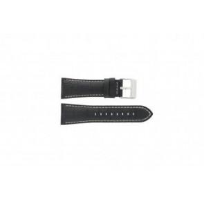 Festina klockarmband F16235/6 Läder Svart 28mm + sömmar vitt