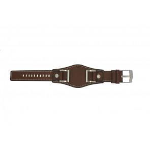 Fossil klockarmband JR1157 Läder Brun 24mm + default sömmar