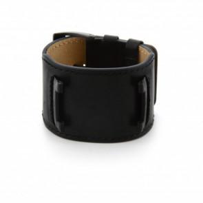 Guess klockarmband W10265G1 / W0418G2 Läder Svart 32mm + sömmar svart